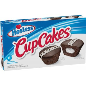 Hostess Chocolate Cup Cakes (8 individually wrapped cakes)