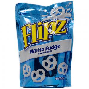 Flipz White Fudge Pretzel Stand Up Pouch