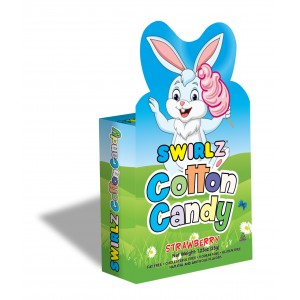 Swirlz Easter Bunny Strawberry Cotton Candy
