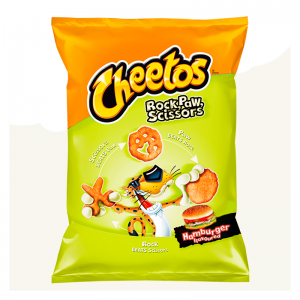 Cheetos Rock Paw Scissors Hamburger 85 Gram