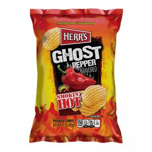 Herr's Smokin' Hot Ghost Pepper Potato Chips 185 Gram