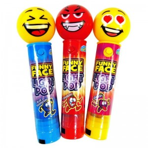 Crazy Candy Factory Funny Face Light Pops