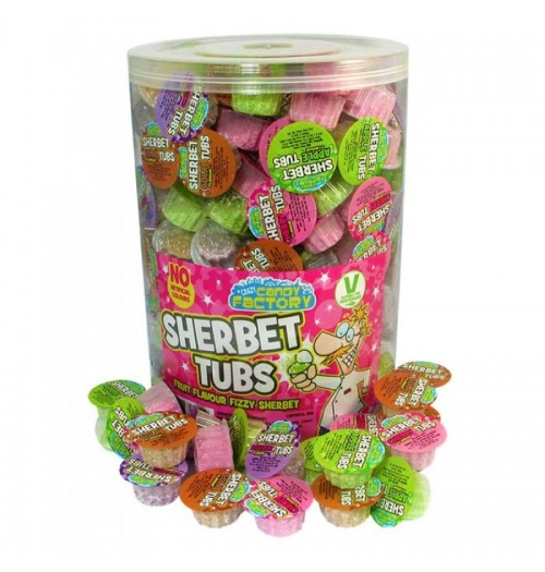 Crazy Candy Factory Sherbert Tubs