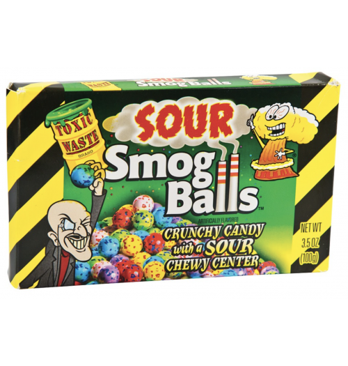 Toxic Waste Sour Smog Balls Theatre Box