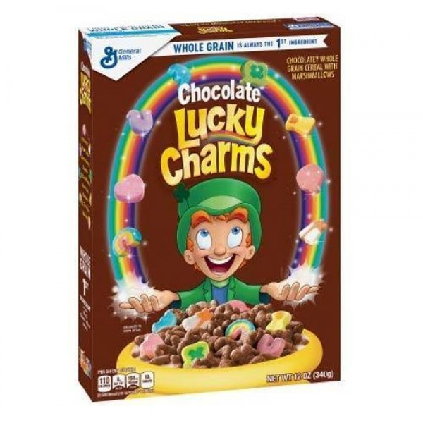 Lucky Charms Chocolate Cereal Box