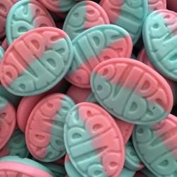 Bubs Raspberry & Blueberry Foam Sweets         (VT, VG)